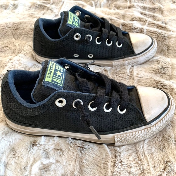 Converse All Star Black Slip On Classic Sneakers